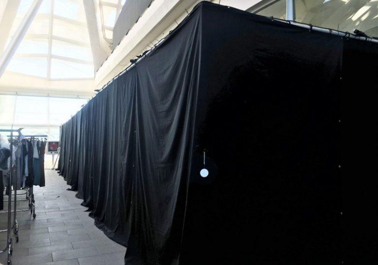 instalación de separadores con telas