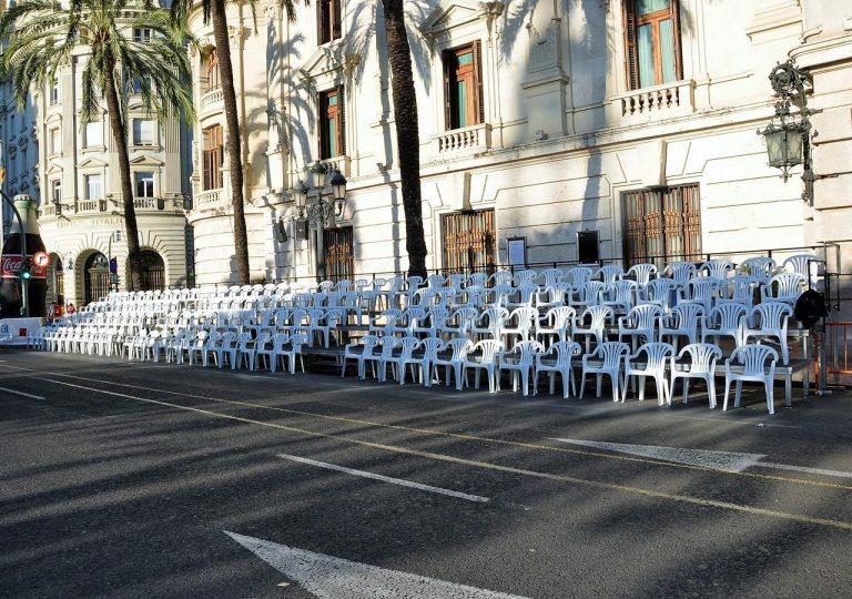 alquiler de gradas con asientos