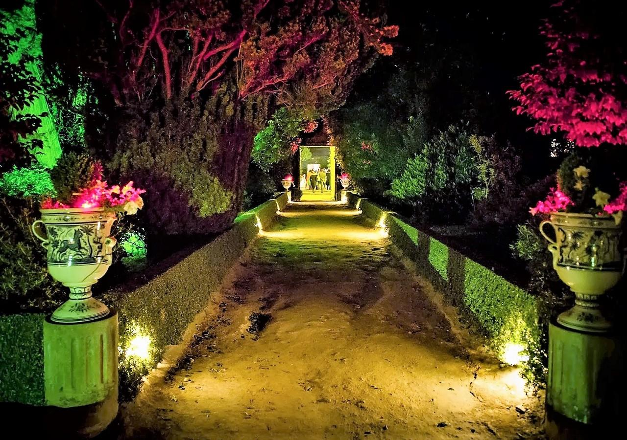 bodas en jardines con luz