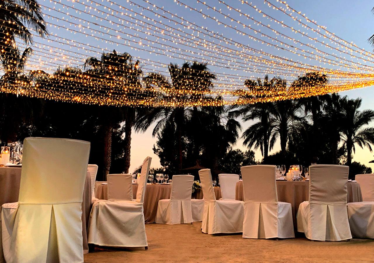 tiras de luz para bodas