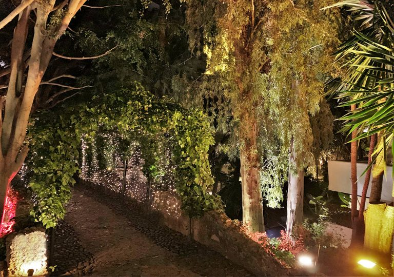 decoración jardín boda