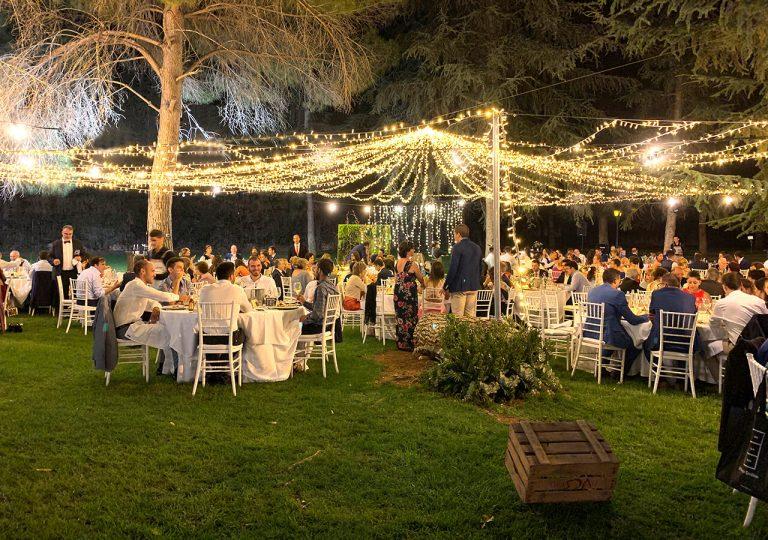 montaje de luces para bodas