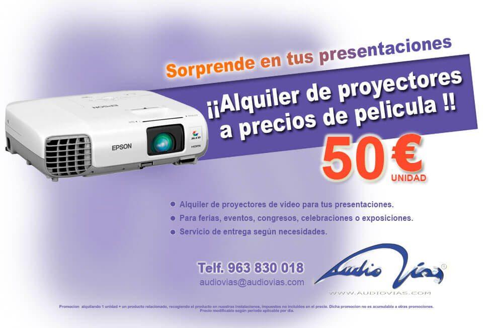 promoción proyectores